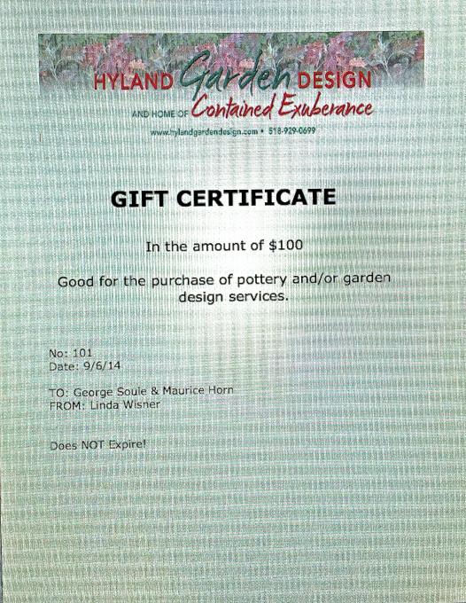 HGD-Gift Certificate